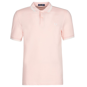 Textiel Heren Polo's korte mouwen Fred Perry TWIN TIPPED FRED PERRY SHIRT Zilverroze / Snw