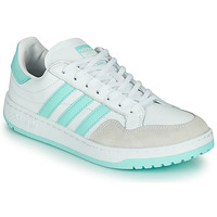 Schoenen Lage sneakers adidas Originals TEAM COURT W Wit / Turquoise