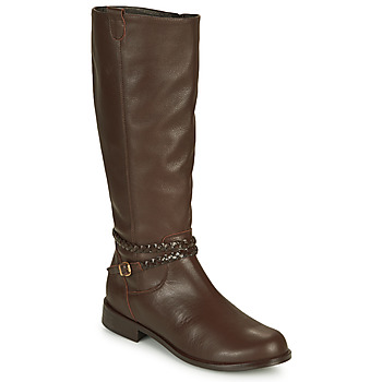 Schoenen Dames Hoge laarzen So Size AURELIO Brown