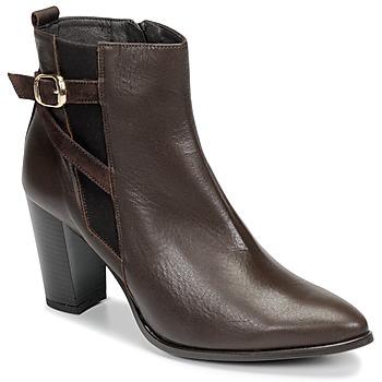 Schoenen Dames Enkellaarzen So Size AURELIO Brown