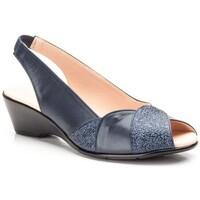 Schoenen Dames Sandalen / Open schoenen Cbp - Conbuenpie Sandalias con tacón bajo de piel by CBP Bleu