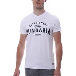 Textiel Heren T-shirts korte mouwen Hungaria  Wit