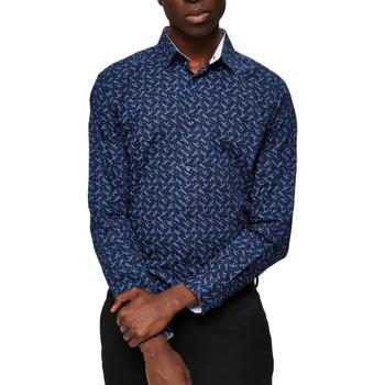 Textiel Heren Overhemden lange mouwen Selected  Blauw