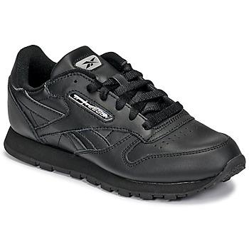 Schoenen Kinderen Lage sneakers Reebok Classic CLASSIC LEATHER Zwart