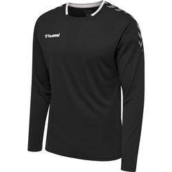 Textiel Heren T-shirts met lange mouwen Hummel Maillot  manches longues hmlAUTHENTIC Poly noir/blanc
