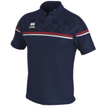 Textiel Polo's korte mouwen Errea Polo  dominic bleu/marine/blanc