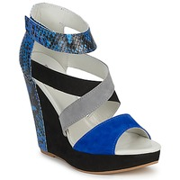 Schoenen Dames Sandalen / Open schoenen Serafini CARRY Zwart / Blauw / Grijs