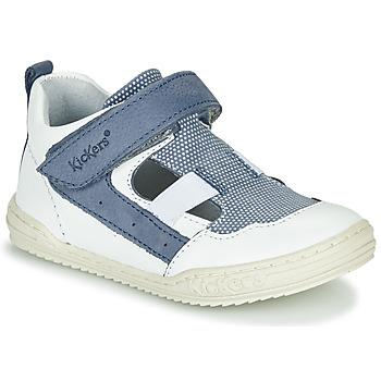 Schoenen Jongens Sandalen / Open schoenen Kickers JASON Wit / Blauw