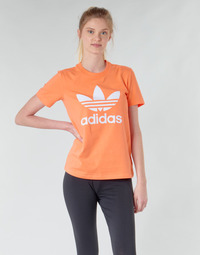 Textiel Dames Sweaters / Sweatshirts adidas Originals TREFOIL TEE Orange