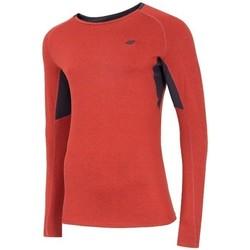 Textiel Heren T-shirts met lange mouwen 4F TSMLF002 Orange