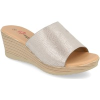 Schoenen Dames Leren slippers Camelia A18 Plata