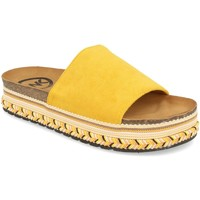 Schoenen Dames Leren slippers Woman Key CZ-10095 Amarillo