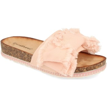Schoenen Dames Leren slippers Ainy WSL-109 Rosa