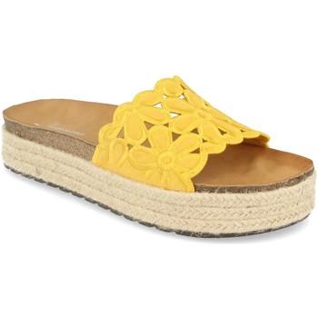Schoenen Dames Leren slippers Festissimo YT5551 Amarillo