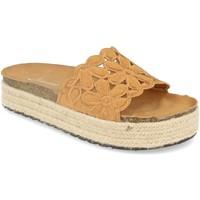 Schoenen Dames Leren slippers Festissimo YT5551 Camel
