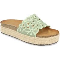 Schoenen Dames Leren slippers Festissimo YT5551 Verde