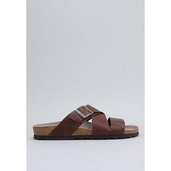 Schoenen Heren Slippers Senses & Shoes OLSEN Brown