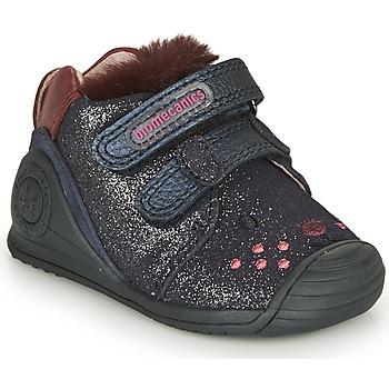 Schoenen Meisjes Lage sneakers Biomecanics BOTIN ELASTICO Marine