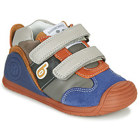 Schoenen Jongens Lage sneakers Biomecanics ZAPATO SPORT VELCRO Grijs / Blauw / Orange