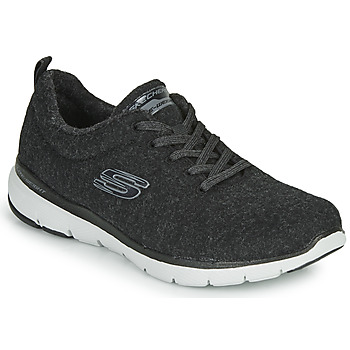 Schoenen Dames Fitness Skechers FLEX APPEAL 3.0 PLUSH JOY Zwart