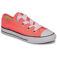 Schoenen Meisjes Lage sneakers Converse CTAS BIG EYELET OX LAVA GLOW/WHITE/BLACK Roze
