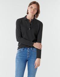 Textiel Dames Polo's lange mouwen Lacoste PF5464 Zwart