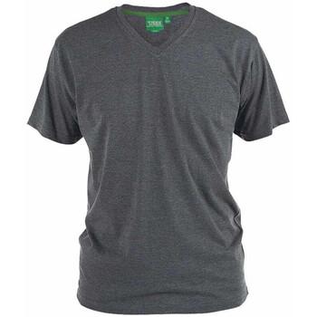 Textiel Heren T-shirts & Polo's Duke Signature-2 Houtskoolmelange