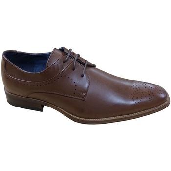 Schoenen Heren Derby Goor  Bruin