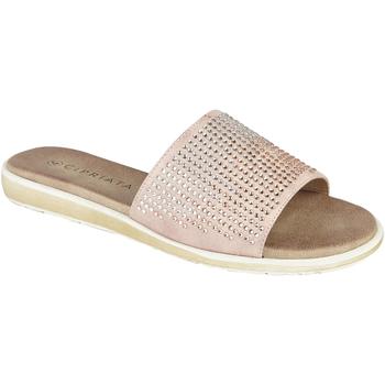 Schoenen Dames Leren slippers Cipriata  Roze Goud