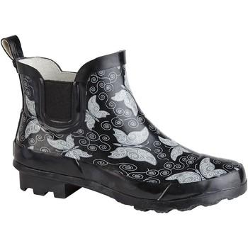 Schoenen Dames Regenlaarzen Stormwells  Zwart/vlinder