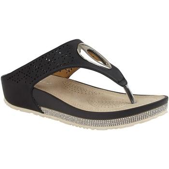 Schoenen Dames Slippers Cipriata  Zwart