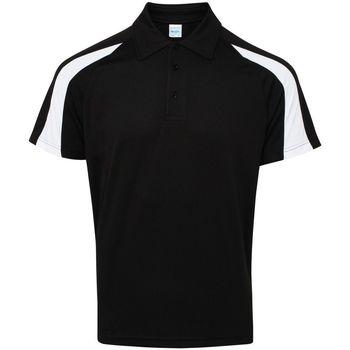 Textiel Heren Polo's korte mouwen Awdis JC043 Straal Zwart/Arctisch Wit