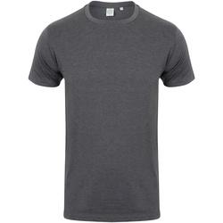 Textiel Heren T-shirts korte mouwen Skinni Fit Stretch Heide Houtskool