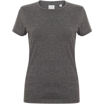 Textiel Dames T-shirts korte mouwen Skinni Fit Stretch Heide Houtskool