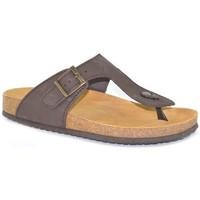 Schoenen Heren Slippers Morxiva Shoes Sandalias Bio de hombre de piel by Morxiva Marron
