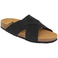 Schoenen Heren Leren slippers Morxiva Shoes Sandalias Bio de hombre de piel by Morxiva Noir