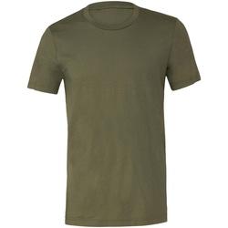 Textiel T-shirts korte mouwen Bella + Canvas Jersey Militair Groen
