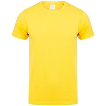 Textiel Heren T-shirts korte mouwen Skinni Fit Stretch Geel