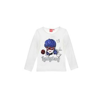 Textiel Meisjes T-shirts met lange mouwen TEAM HEROES  MIRACULOUS LADYBUG Wit