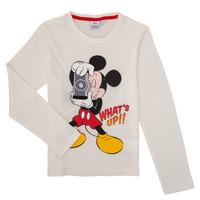 Textiel Jongens T-shirts met lange mouwen TEAM HEROES  MICKEY Wit