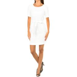Textiel Dames Korte jurken Armani jeans Robe à manches courtes Wit