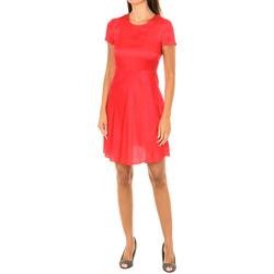 Textiel Dames Korte jurken Armani jeans Robe à manches courtes Rood