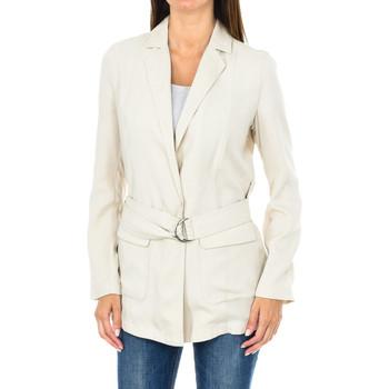 Textiel Dames Jasjes / Blazers Armani jeans Blazer à ceinture Beige