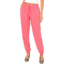Textiel Dames Losse broeken / Harembroeken Armani jeans Pantalon long Roze