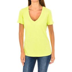 Textiel Dames T-shirts korte mouwen Armani jeans T-shirt à manches courtes Geel