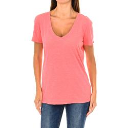 Textiel Dames T-shirts korte mouwen Armani jeans T-shirt à manches courtes Rood