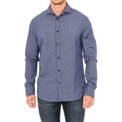 Textiel Heren Overhemden lange mouwen Armani jeans Chemise à manches longues Blauw