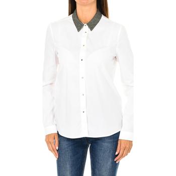 Textiel Dames Overhemden Armani jeans Chemise à manches longues Wit