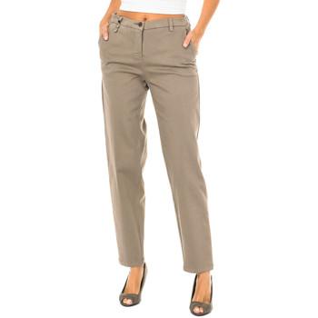 Textiel Dames Chino's Armani jeans Pantalon long Brown