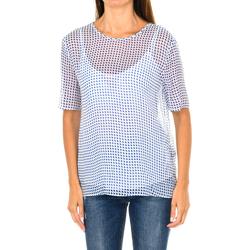 Textiel Dames Tops / Blousjes Armani jeans Blouse à manches courtes Multicolour